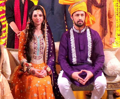 pakistancelebrities.blogspot.com - Atif Aslam With Sara Shadi Pictures Album 2