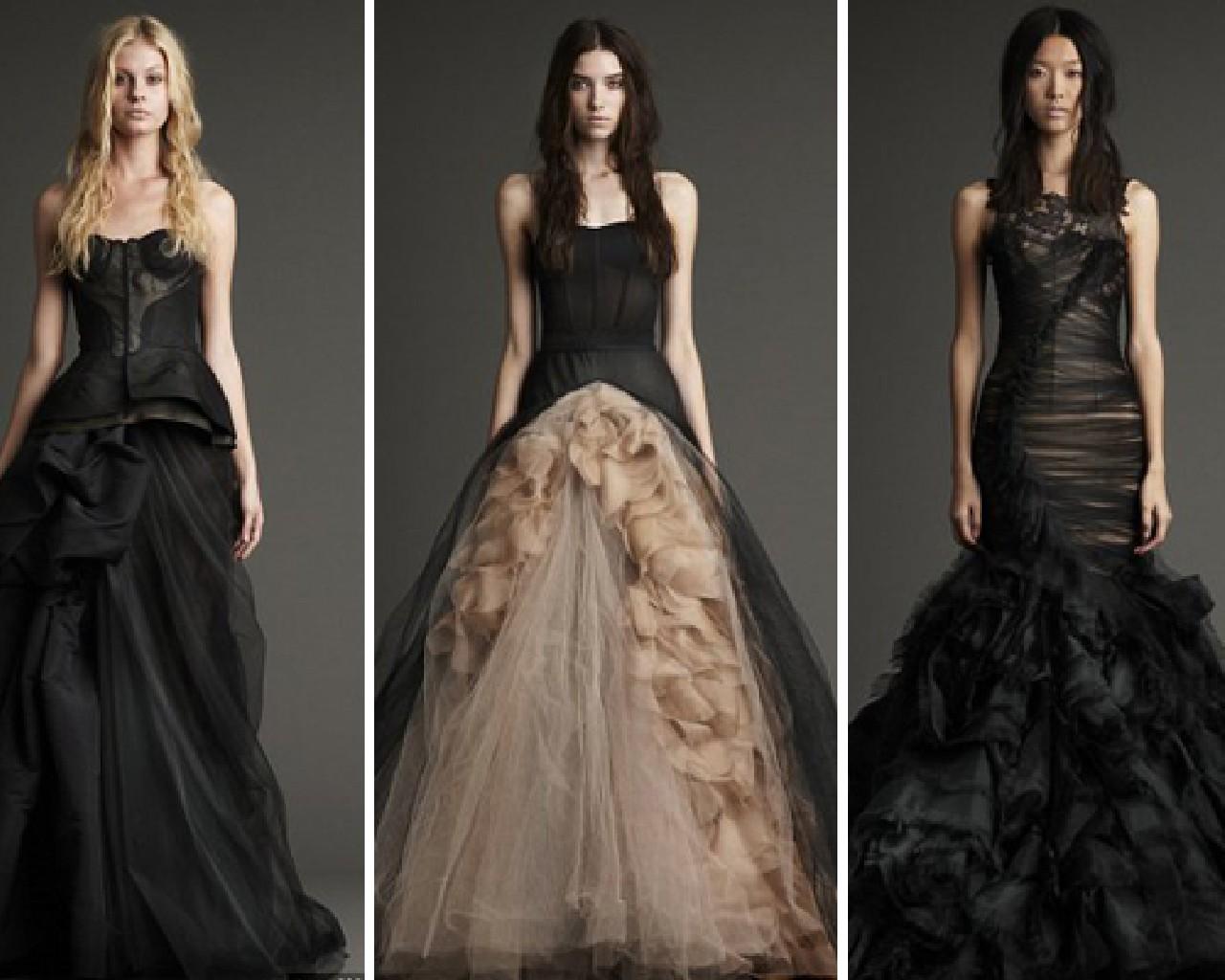 Black Wedding Dress Color : Brideindream colored wedding dresses