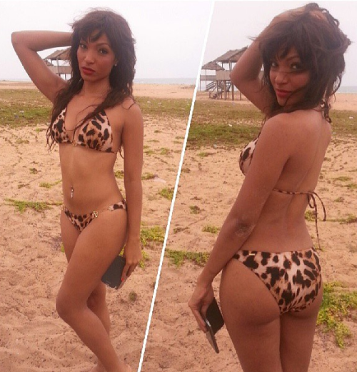 Banky W Rumored  GF Andrea Giaccaglia shows off hot bikini body