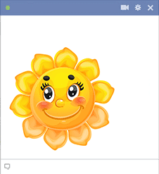 Sunflower face sticker for Facebook