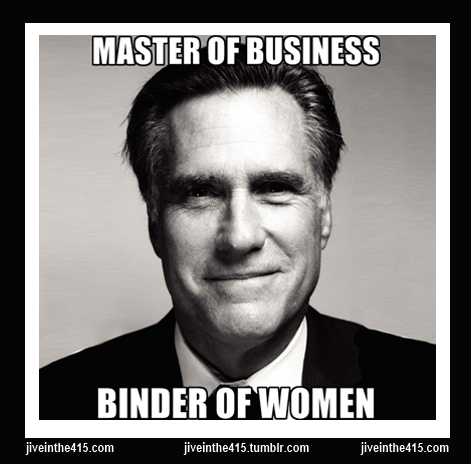 Romney meme - master of business - binder of wom
