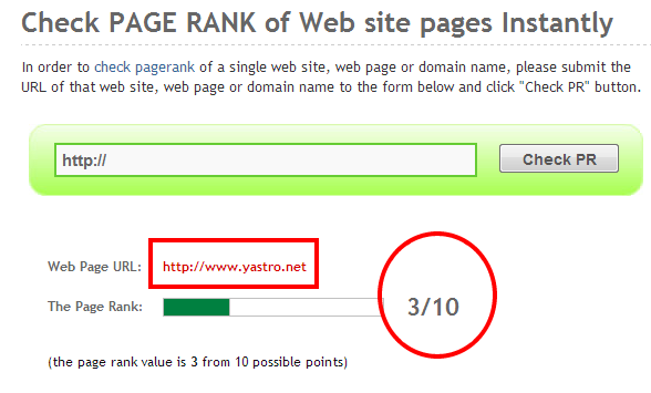 Check Google Pagerank November 2012