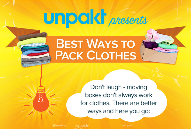 Best ways to pack clothes infographic visualistan for Best way to pack shirts