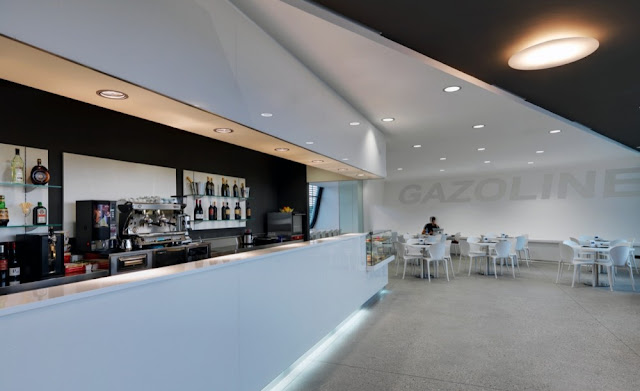 Photo of bar in the Gazoline Petrol Station by Damilano Studio Architects