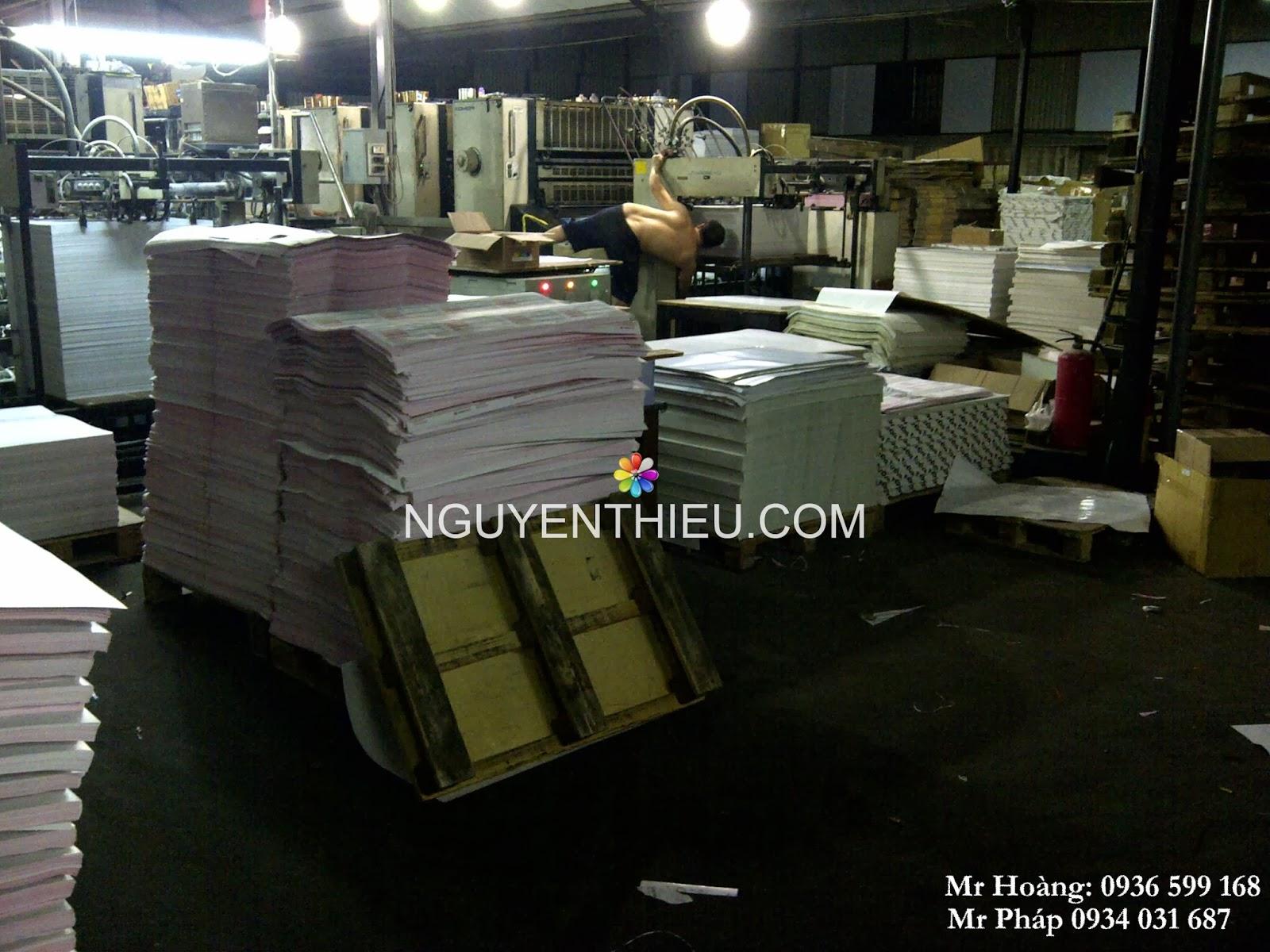 xưởng in ấn, in ấn sổ tay