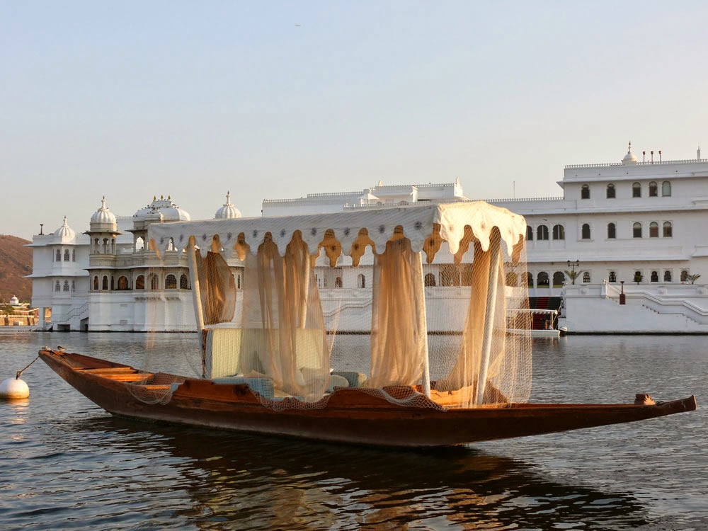 A Small Boat on Lake, Pichola, Udaipur