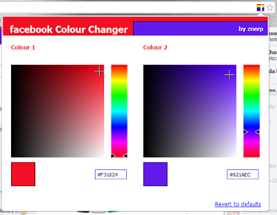 how to change color in facebook