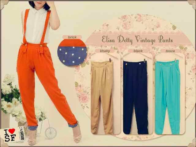 Dotty Vintage Pants, baju vintage, baju klasik, baju online shop, busana wanita 2014