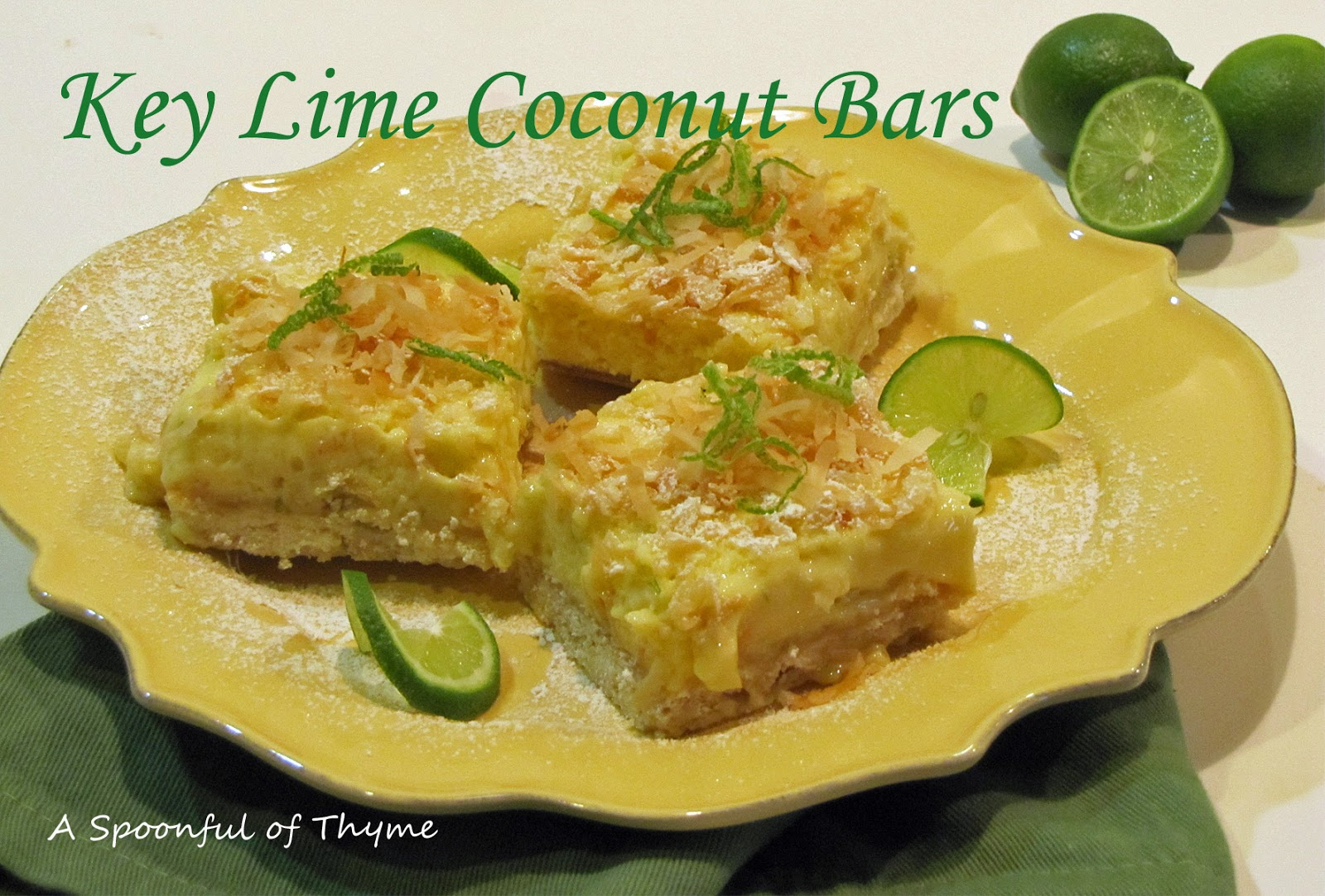 Spoonful of Thyme: Key Lime Coconut Bars