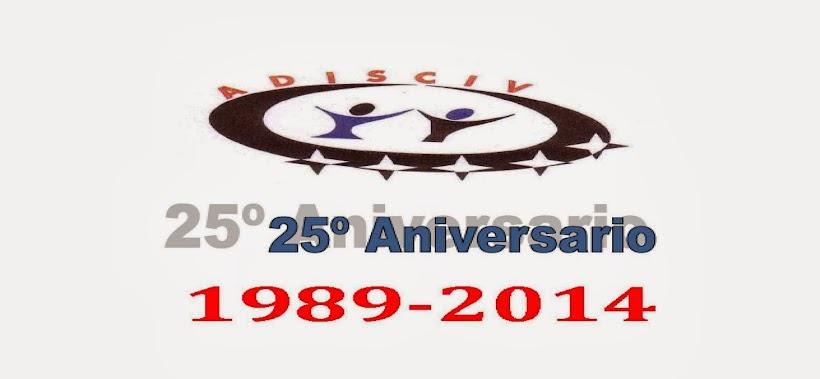 Logo ADISCIV 25 Aniversario