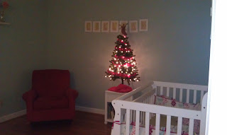 Christmas tree in child's room