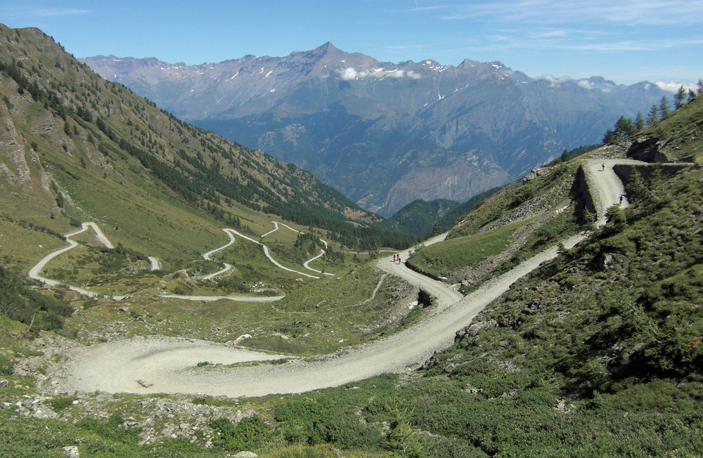 Italian cycling journal geox tmc recon of colle delle - Colle delle finestre ...