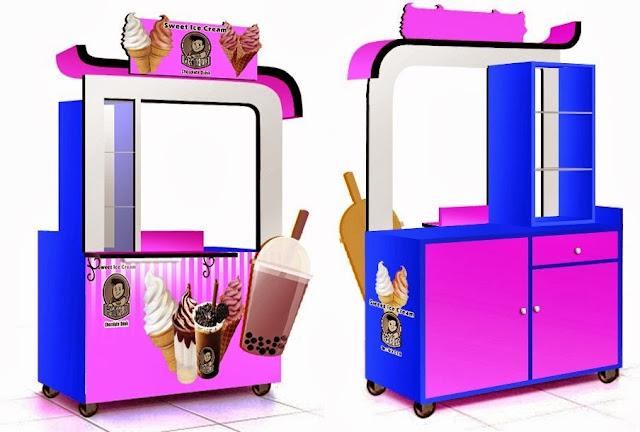 Gerobak Ice Cream Rp 3 200 000 Jasa Pembuatan Gerobak