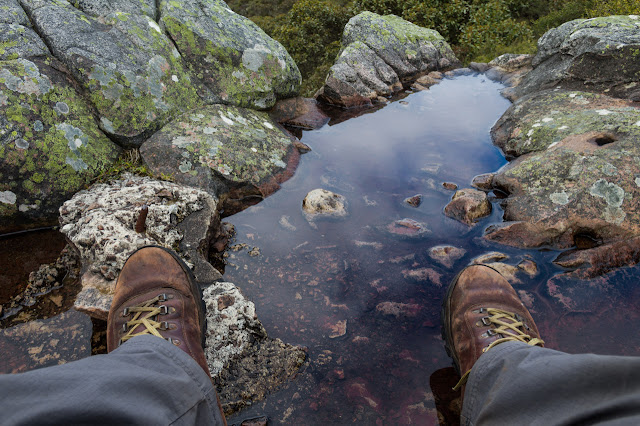 pooled water under mount abrupt trig point