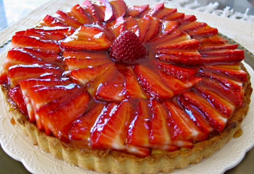 this weekend s fresh berry tart is strawberry with orange cream cheese ...