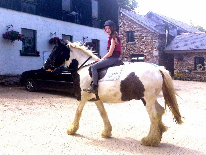 Niamh and the very big horse