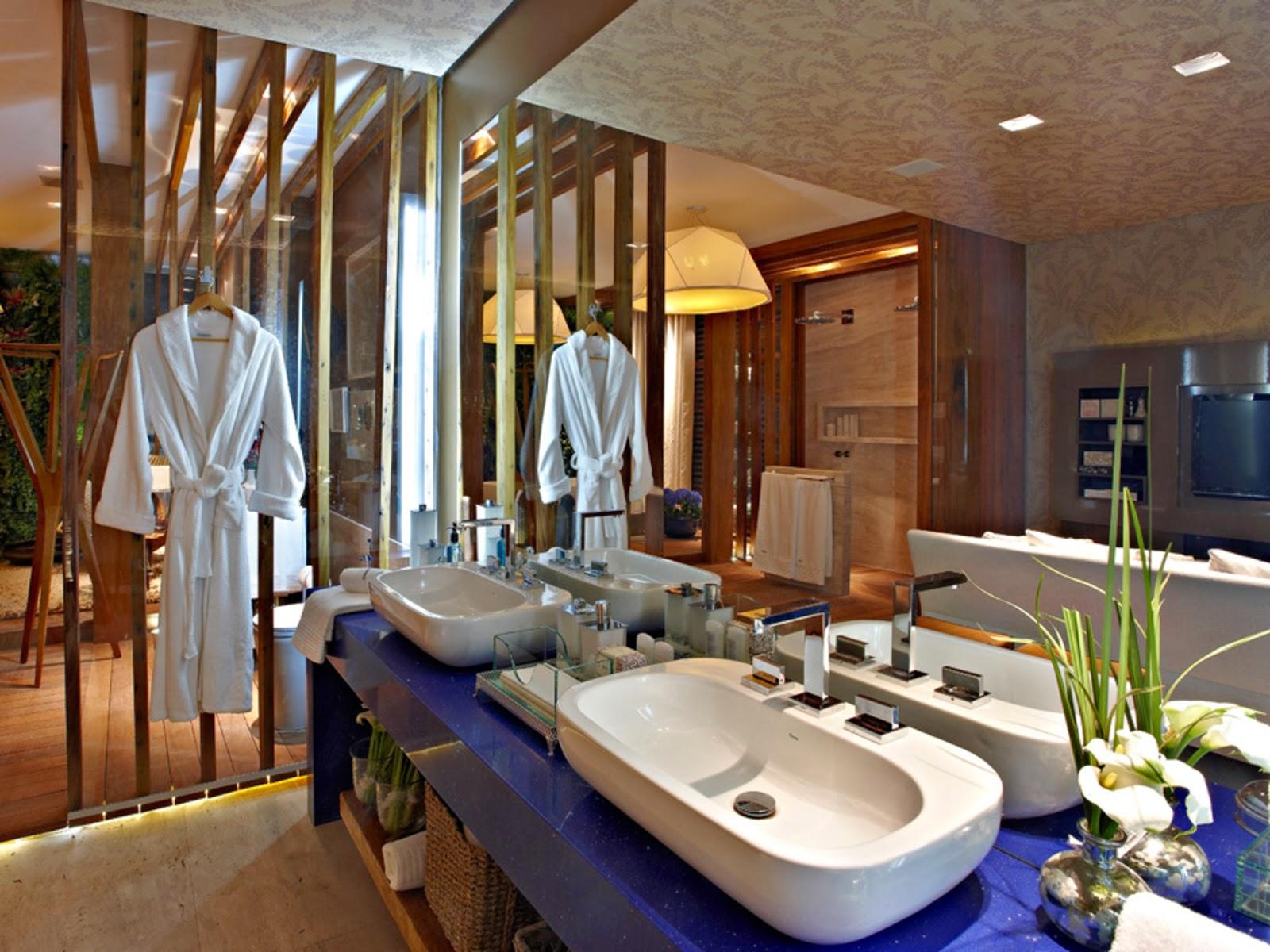 40 Bancadas de banheiros/lavabos – veja modelos modernos e  #986833 1600x1200 Bancadas Banheiros Modernos