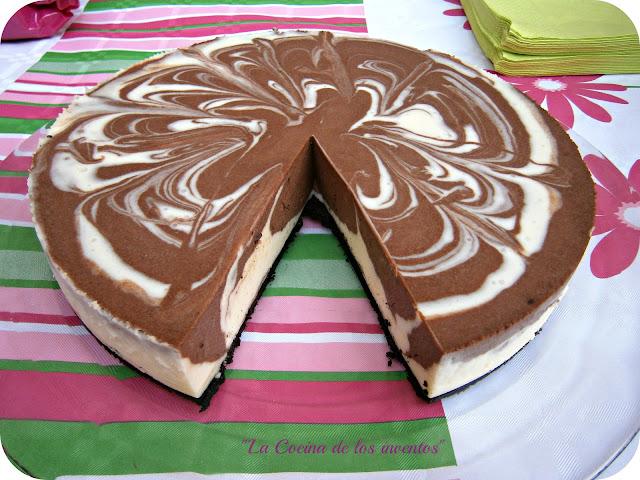 """Tarta De Queso Y Dos Chocolates """"marmolada"""""""
