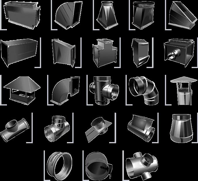 фасонные части воздуховодов