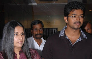 Vijay with his wife Sangeetha Nice snap
