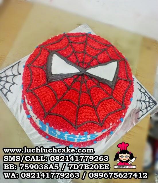 Spiderman Buttercream Cake Daerah Surabaya - Sidoarjo
