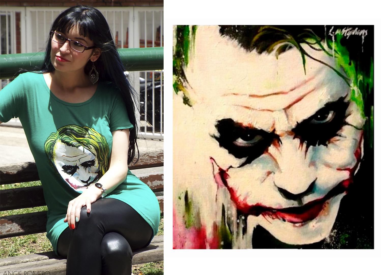 plantilla cara de joker para estampar en camiseta