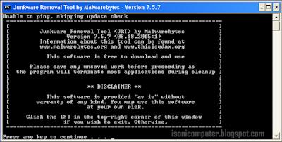 Junkware Removal Tool versi 7.5.7