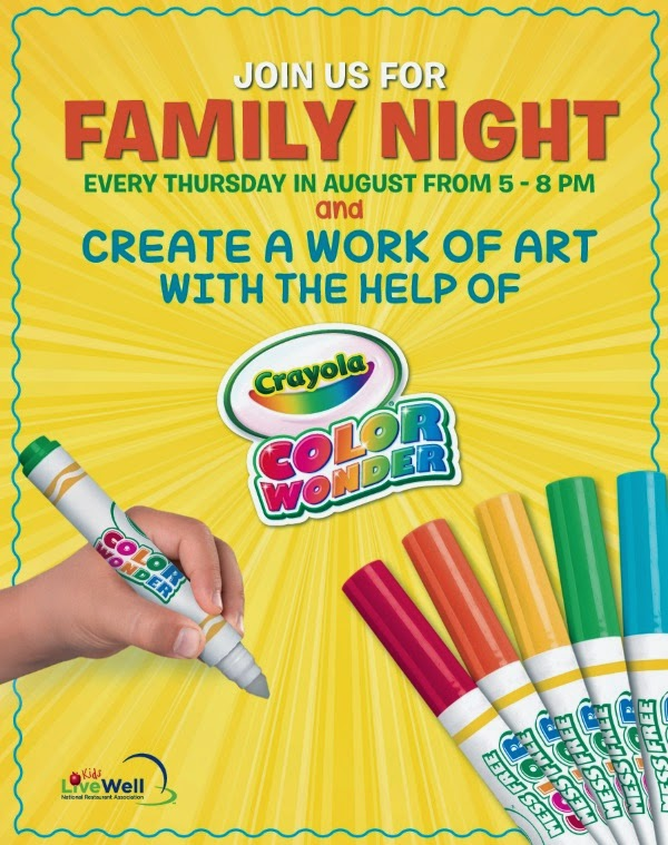 Ryan's Old Country Buffet Crayola Prize Pack USA Giveaway Ends 8/30