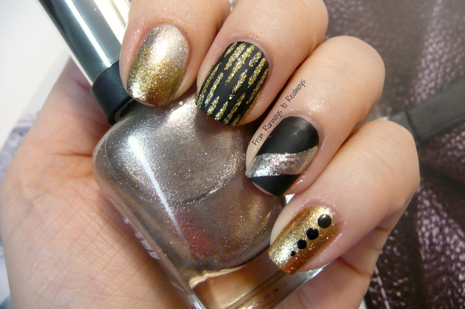 Vegas nail art design