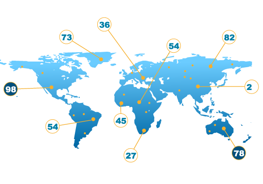 SEO world map