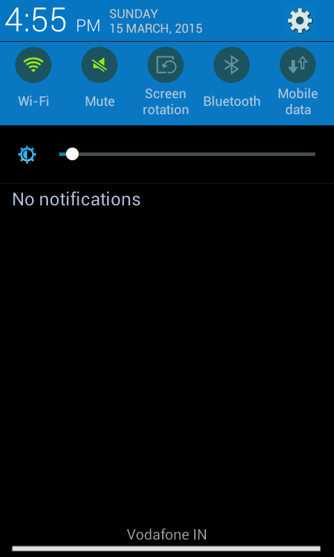 Notification kitkat rom