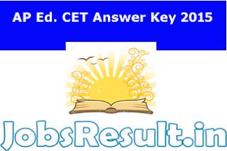 AP Ed. CET Answer Key 2015