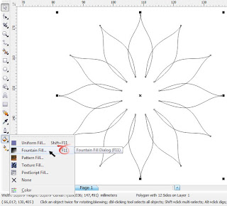 Berkreasi dengan Polygon Tool, www.tutoriallengkapcoreldraw.blogspot.com