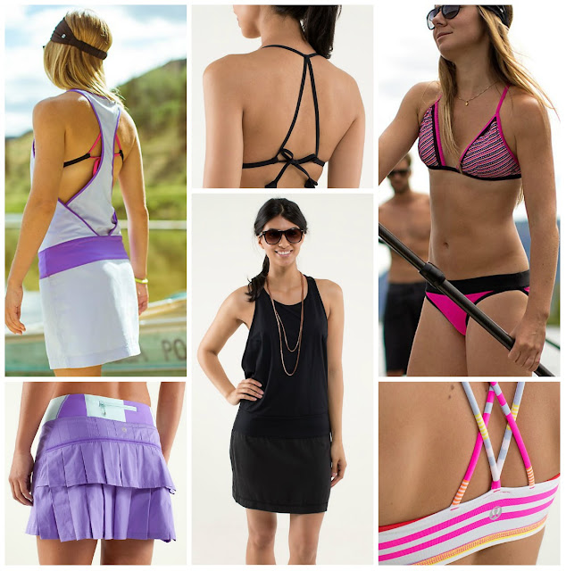 Lululemon summer essentials - blissed out dress, beach break triangle top, free to be bra