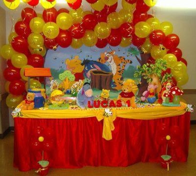Decoracin De Fiestas Infantiles Winnie The Pooh