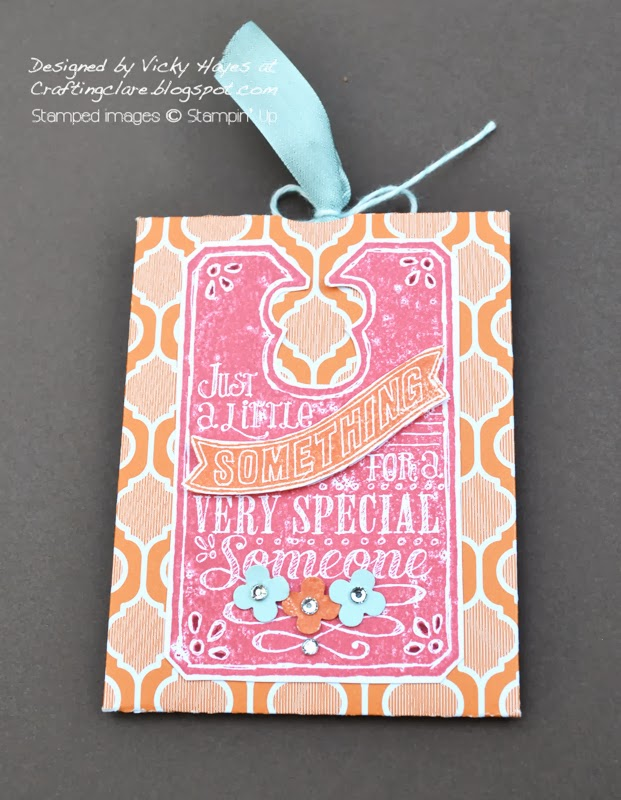 Receive a handmade gift when you join Vicky Hayes and the Inkredibles at Stampin Up