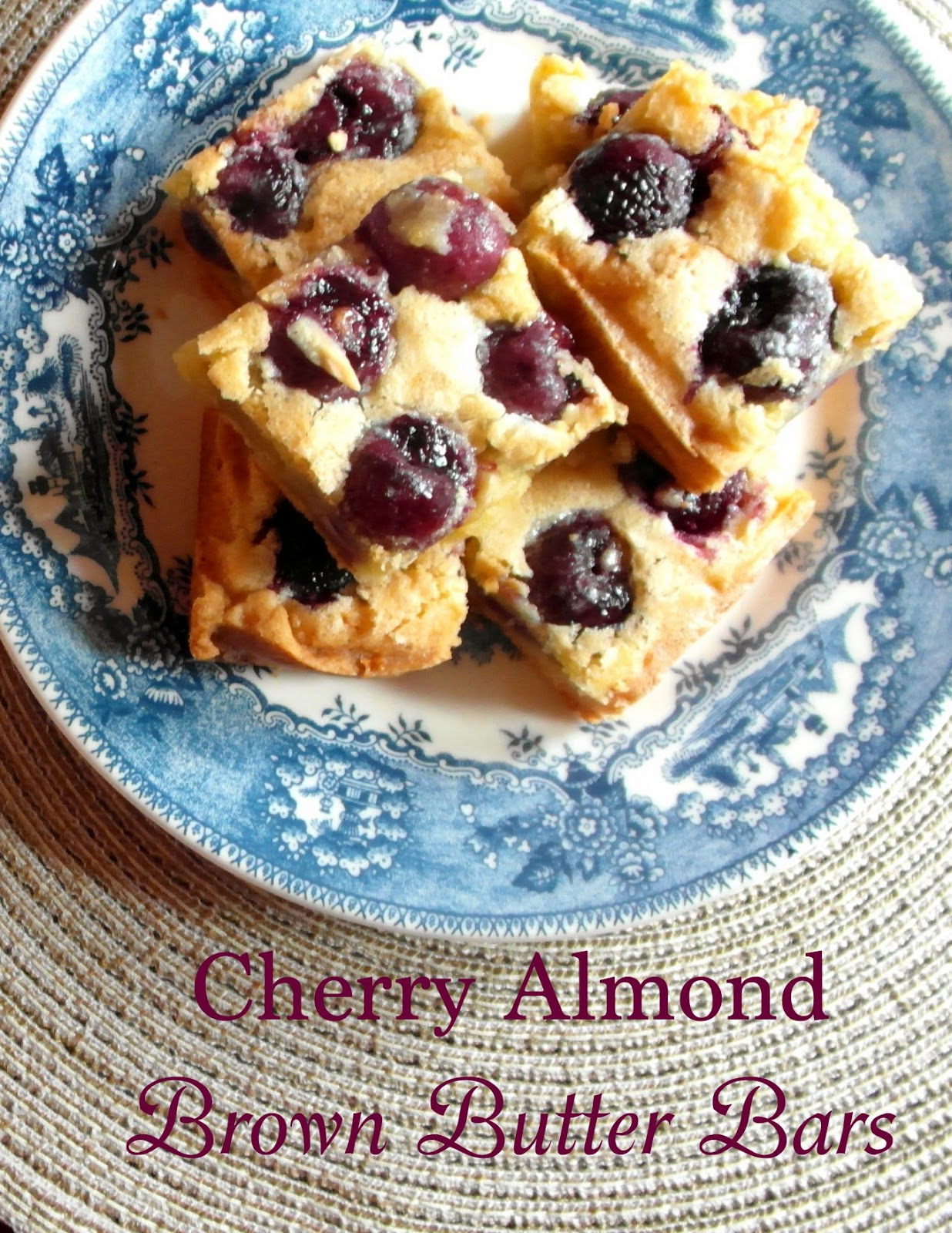 Cobbs Hill: Cherry Almond Brown Butter Bars