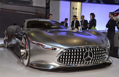 Black Sports Car Mercedes Benz Silver