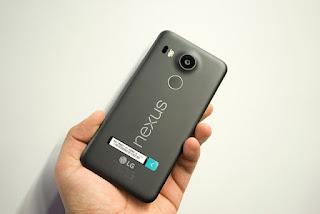 Tampilan belakang LG Nexus 5x