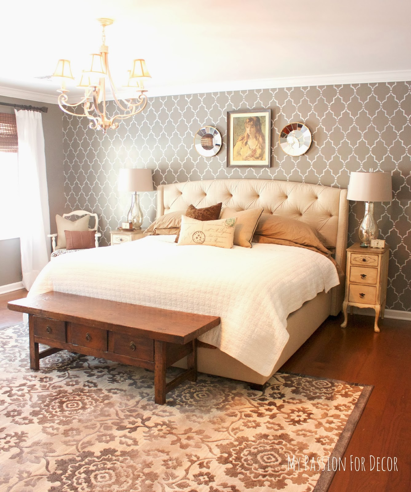 My Passion For Decor Master Bedroom Makeover Using Cutting Edge Stencils