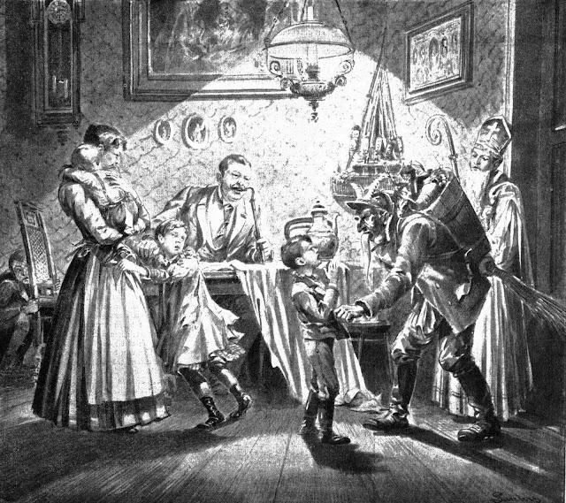 Krampus stealing children