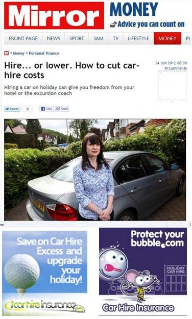 Car Hire Excess Insurance Protect Your Bubble