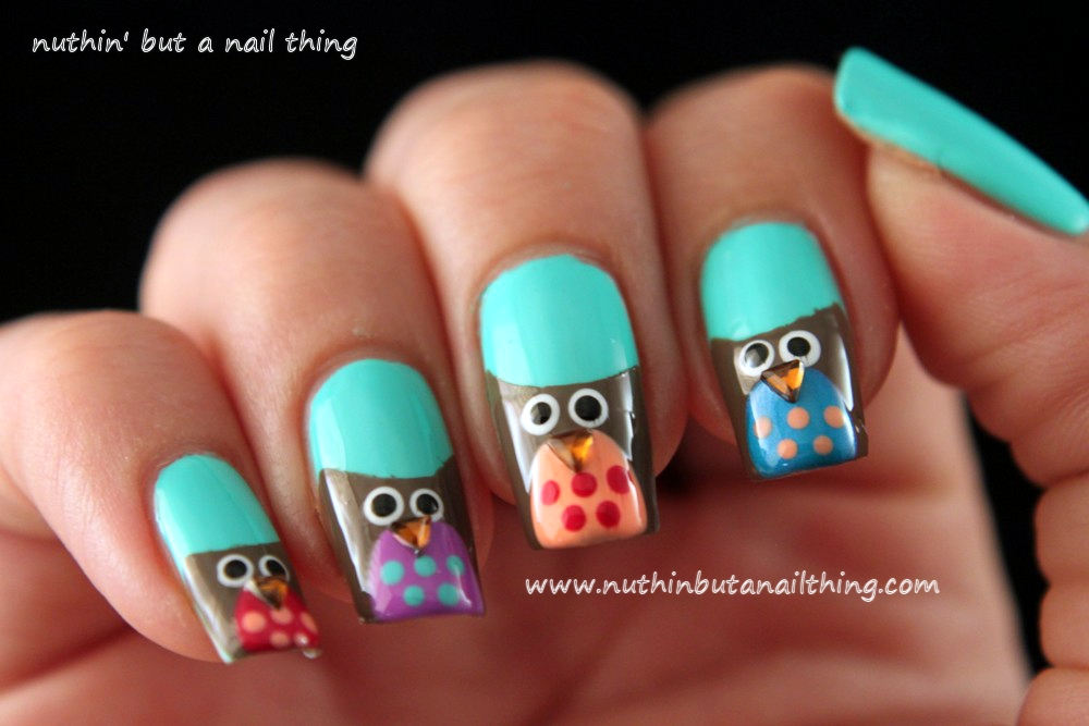 Nuthin But A Nail Thing Owl Nail Art Tutorial