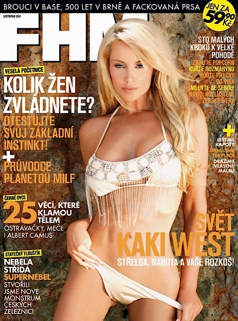 Kaki West FHM Czech Cover - Mystery of 3