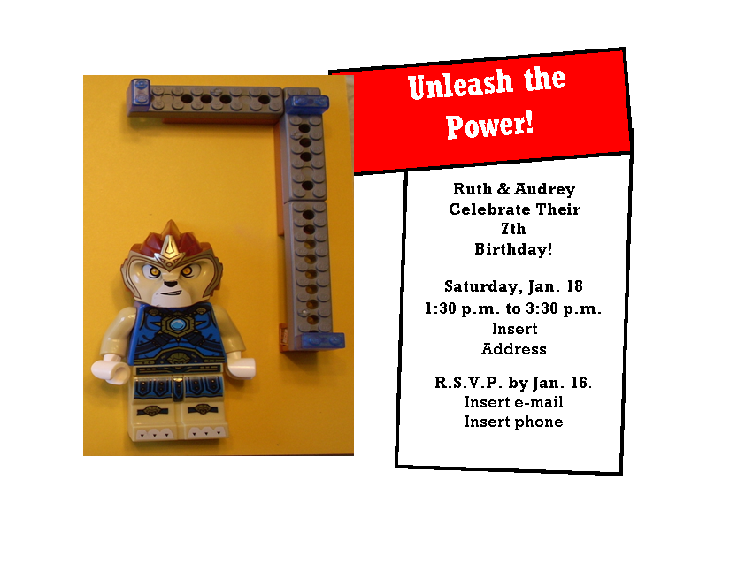 Lego Chima Invitation