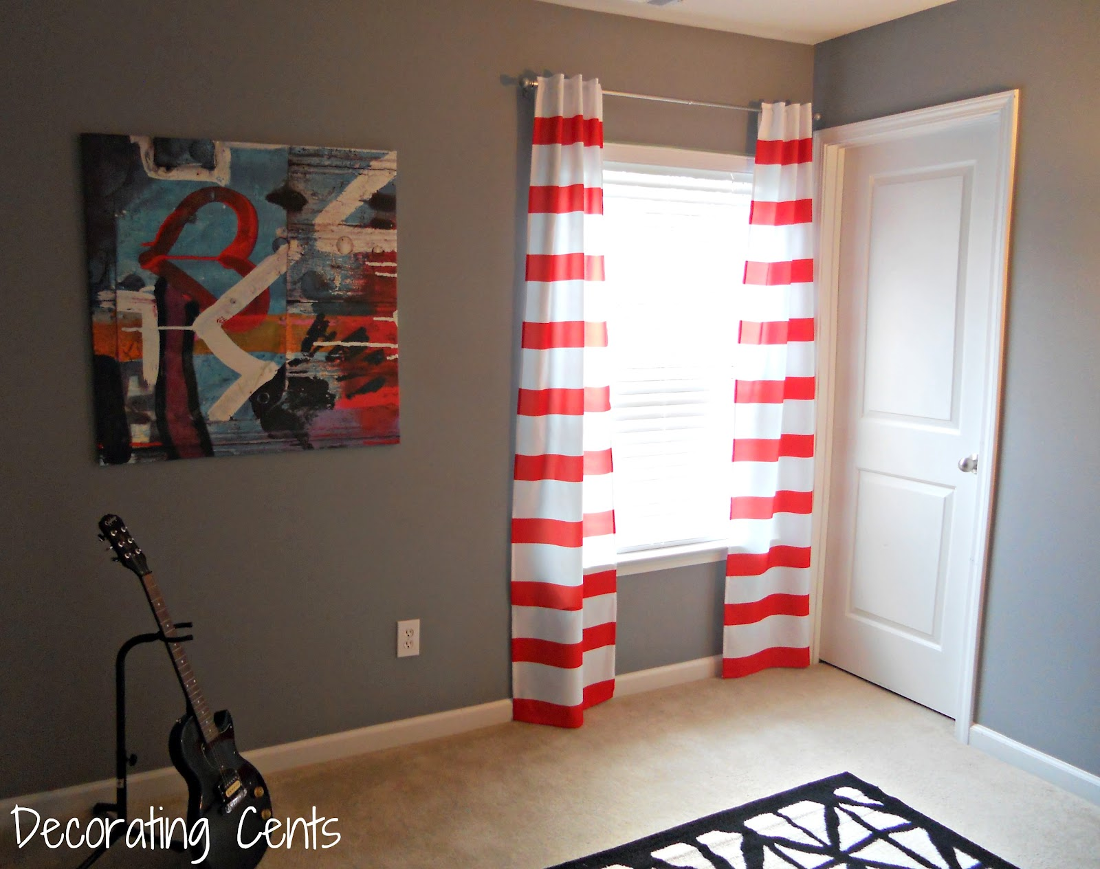 Striped Curtains In The Office