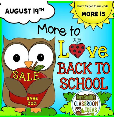 Fern Smith's Classroom Ideas TeachersPayTeachers One Day Boost Back To School Sale!
