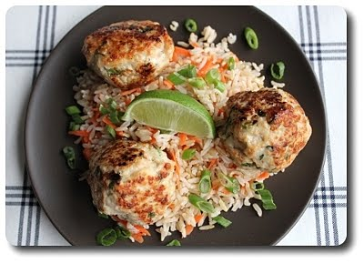 Culinary in the Desert: Asian Turkey Meatballs with Carrot Rice