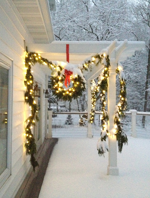 snowy pergola -- The Impatient Gardener