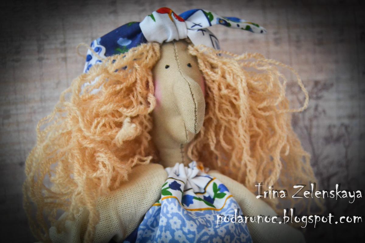 текстильная кукла баба яга